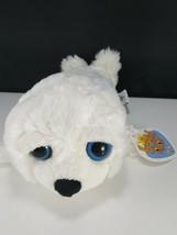 White Seal Big Bright Blue Eyes Plush Stuffed Animal The petting Zoo NEW... - $12.46