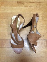 Michael Kors Brown Open Toe Heels Size 10 Stilettos - $25.74