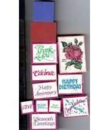 LOT OF 16 Rubber Stamp ASSORTMENT Sayings & Flowers some are PSX S2 - $5.00