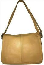 Vintage Coach Hampton Camel Leather Flap Cross-body Bag 9570 Msrp $298 - $148.50