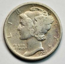 1921 Key Date Silver Mercury Dime 10¢ Coin Lot# A662