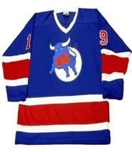 Any Name Number Toronto Toros Retro Hockey Jersey New Blue Any Size image 1