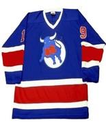 Any Name Number Toronto Toros Retro Hockey Jersey New Blue Any Size - $49.99+