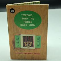 Disney Tiny Golden Library Book Disneyland Stories Kunhardt #10 Meow Fierce Lion - $14.80