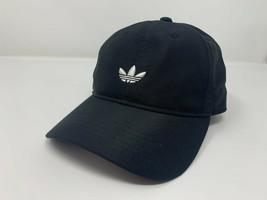 NEW! adidas Men's Trefoil Embroidered Trainer Adjustable Cap-Black/White... - $51.62