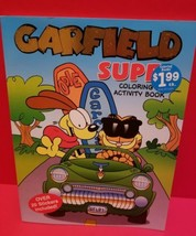 Garfield Activity Book Super Coloring Cartoon Character Stickers 2004 Puzzles - $1.89