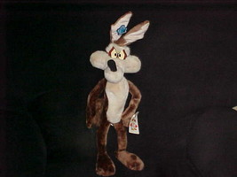 """21"""" Poseable Wile E. Coyote Plush Toy With Tags By Applause From 1994 - $148.49"""