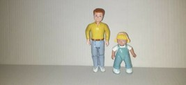 1993 Fisher Price Loving Family Dad Daughter Doll House Figures - $10.69