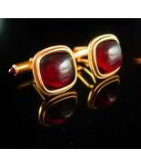 Krementz cufflinks jeweled ends vintage fancy formal wear mens jewelry d... - $110.00