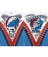 New GRATEFUL DEAD --STEAL YOUR FACE DYE TIE DYE T-Shirt DOUBLE SIDED  - $25.89