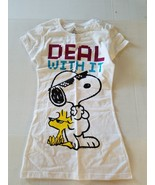 Womens Peanuts T SHIRT Size Small  White  NWT Deal With It - $13.99