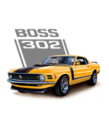 Orange boss 302 mustang cross stitch pattern thumbtall