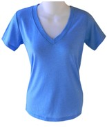 Womens Size XS Blue V-Neck T-Shirt - $5.99