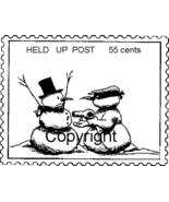 HELD UP POST POSTOID NEW RELEASE mounted rubber stamp - $4.00