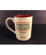 Disney Lion King Ceramic Coffee Tea Mug Cup Hakuna Matata No Worries Hallmark  - $31.92