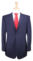 * TIMOTHY EVEREST * London Navy Blue Pinstripe 3-Btn Modern Fit Wool Sui... - $202.30