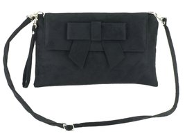 LONI Womens Clutch Bag Shoulder Bag Wristlet in Suede Faux Leather in Yellow image 2