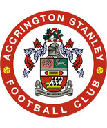Accrington Stanley FC shaped vinyl sticker decal 120mm soccer football E... - $3.35