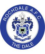 Rochdale FC shaped vinyl crest sticker 120mm football soccer window sticker - $3.35