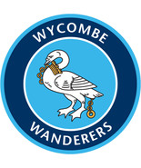 Wycombe Wanderers FC vinyl sticker shaped contoured football 120mm socce... - $3.35