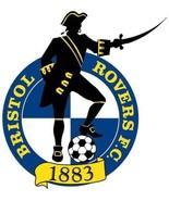 Bristol Rovers shaped vinyl self cling window sticker football soccer  - $3.50