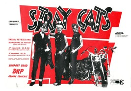 Stray Cats laminated art print 895mm x 621mm Brian Setzer Slim Jim rocka... - $49.00