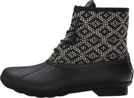 Sperry Top-Sider Women's Saltwater Prints Black/White/Tribal Weave Boot ... - $89.19