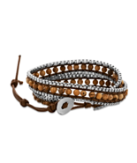 Trending Jasper, Stainless Steel and Leather Wr... - $11.00