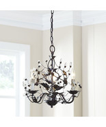 "Floral Vines and Crystal Buds 3 Lights Iron Chandelier 18.5'' x 18""H - $321.75"