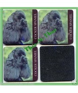 "Coasters Cocker Spaniel Dog Set of 4 foam 4"" square ea. - $9.85"