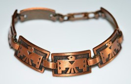 VTG Copper Southwestern Bird Clasp Bracelet - 6.25 inches - $29.70