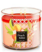 Bath & Body Works Peach Bellini Three Wick 14.5 Ounces Scented Candle  - $23.95