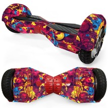 Colorful Clipart overboard hoverboard 8 inch decal skin - $25.00