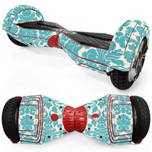 Grey Floral Color overboard hoverboard 8 inch decal skin - $25.00