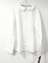 Girls Button Down Shirt French Toast Blouse Size 12 White Color Long Sle... - $8.60