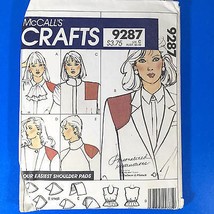 McCalls Crafts 9287 Shoulder Pads Camisole Sewing Pattern Size 6 to 20 Vintage - $6.92
