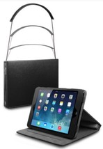 CQ Zip Line Retractor FOLIO Case for iPad MINI, Black NEW - Great For Tr... - $17.94