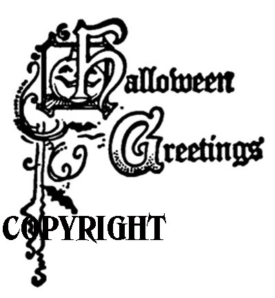 HALLOWEEN GREETINGS new mounted rubber stamp