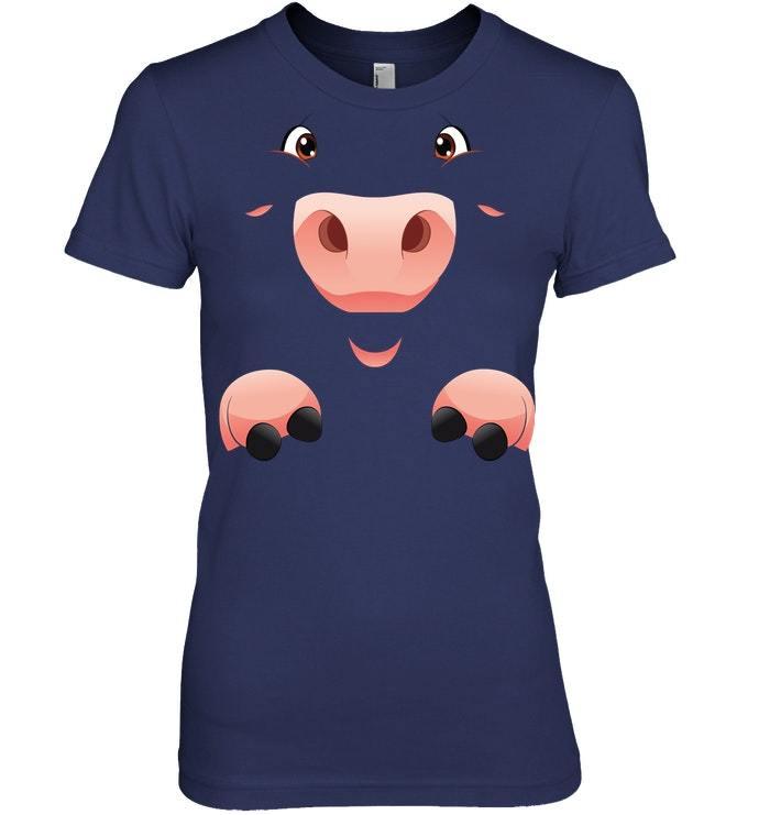 Funny Halloween Tshirt Fun Simple Cute Pig Costume