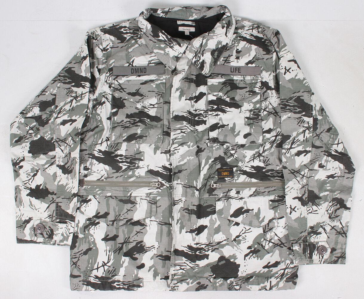 Diamond Supply Co. Hombre Camuflaje M65 Chaqueta Nwt Gris