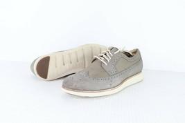 Cole Haan Lunargrand Hombre Talla 11.5 M Piel Zapatos Oxford Vestido Gris - $80.18