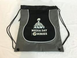 Super Bowl XLVI Gray & Black Drawstring Bag Indy Media Day Gatorade G Se... - $9.99