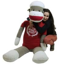 American Made Giant Plush 6 Foot Sock Monkey We... - $176.54