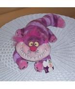 Disney Store Alice in Wonderland Heavy Plush Smiling Purple Striped Ches... - $17.89