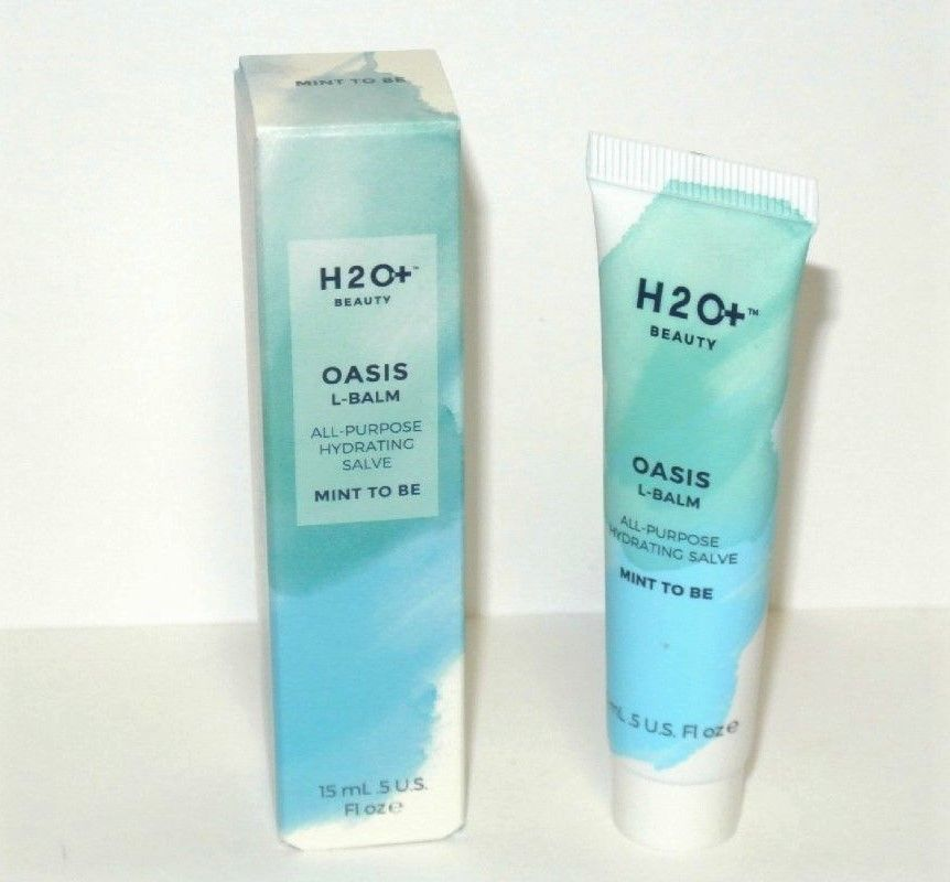 H2O + plus L-BALM MINT TO BE lip balm salve 0.5 fl oz new in box
