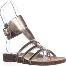 Circus by Sam Edelman Katie Ankle Strap Flat Sandals, Molten Gold, 6 US ... - $24.95