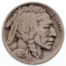 1925-S Buffalo Nickel 5C VF Condition, Natural Color, 4-Digit Date - $69.29