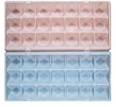 Ice Cube Tray Set - 2 Piece Diamond Shaped Plastic Tray. Easy Release -... - £6.37 GBP