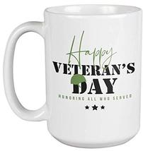 Happy Veterans Day. Honoring All Who Served. Courageous Coffee & Tea Gif... - $22.53