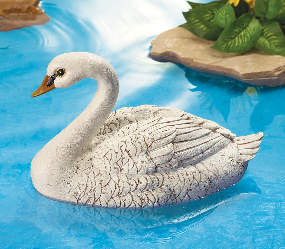 New white floating swan pond decoration lawn ornament pond or lake us statues lawn ornaments Pond ornaments